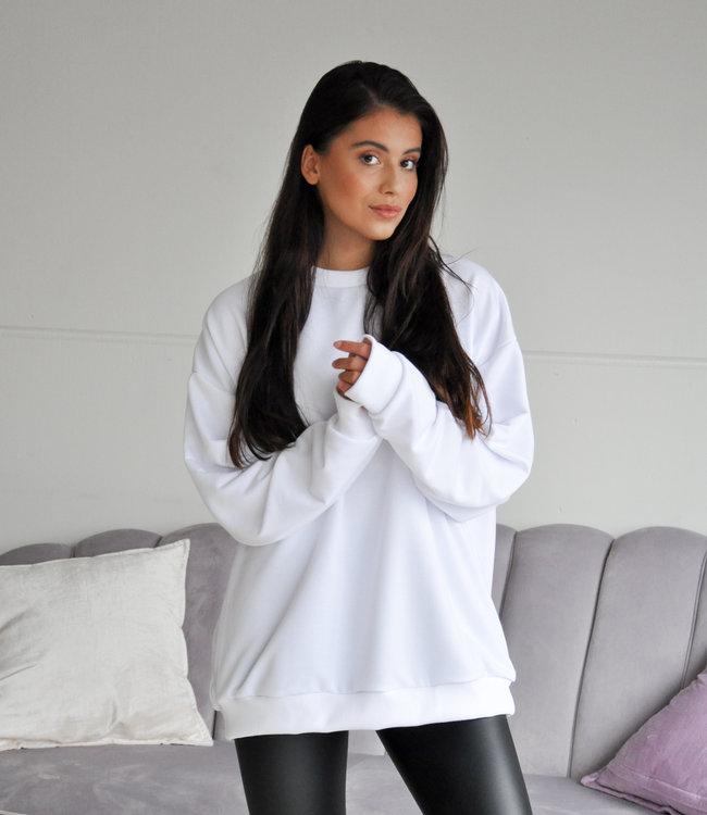 Thunder sweater white