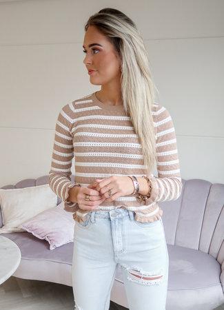 Puck sweater beige
