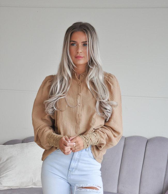 TESS V Suus blouse camel
