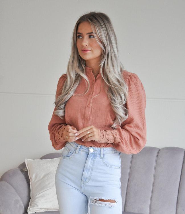 TESS V Suus blouse pink