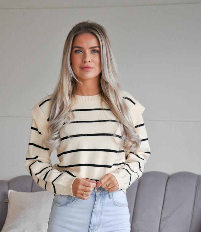 TESS V Bregje sweater creme