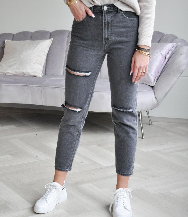 Pien mom jeans grey