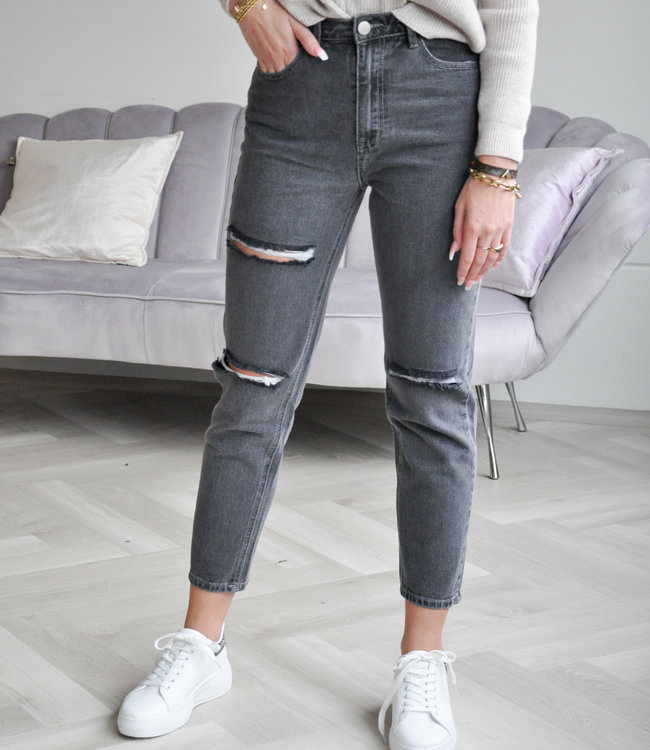 TESS V Pien mom jeans grey