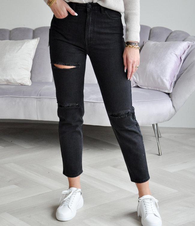 Veerle mom jeans black
