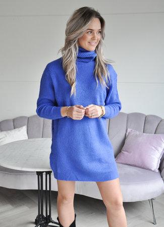TESS V Anouk col dress kobalt