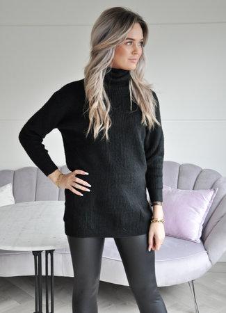 TESS V Anouk col sweater black