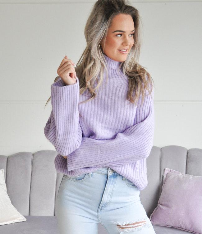TESS V Odyle sweater lila