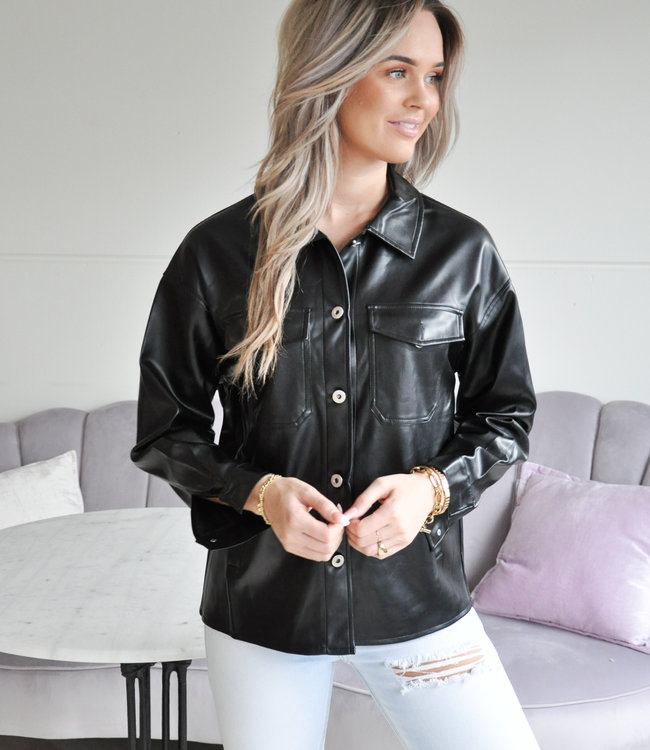 TESS V Nicole leather blouse