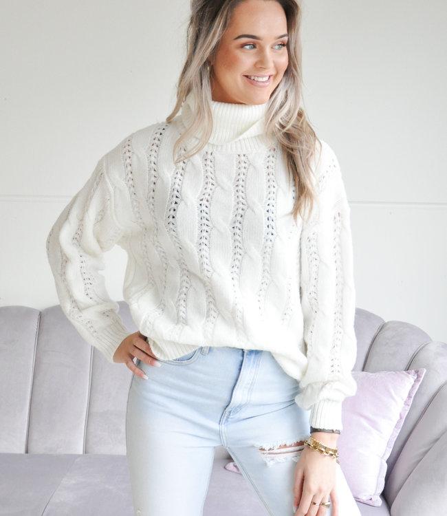 TESS V Seva sweater white