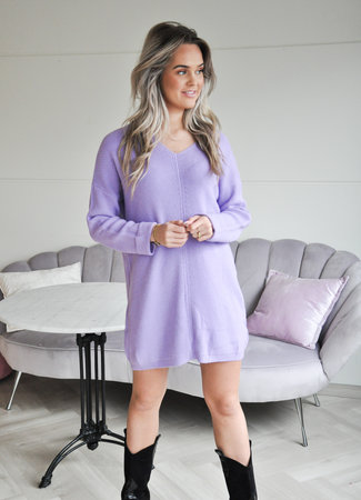 TESS V Chey sweater dress lila