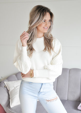 TESS V Nynke sweater white