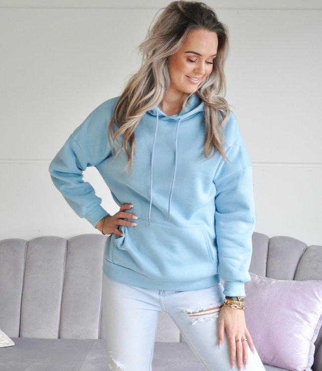 TESS V Amber hoodie blue