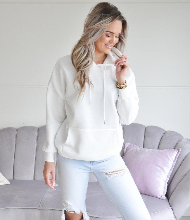 TESS V Amber hoodie white