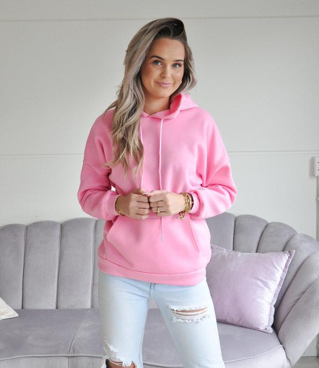 TESS V Amber hoodie pink
