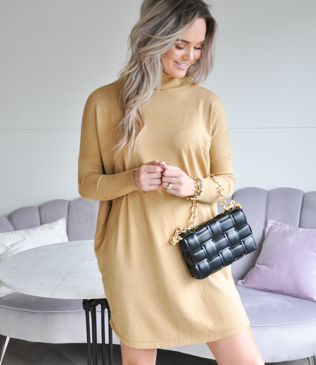 Sylvie Sweater dress camel