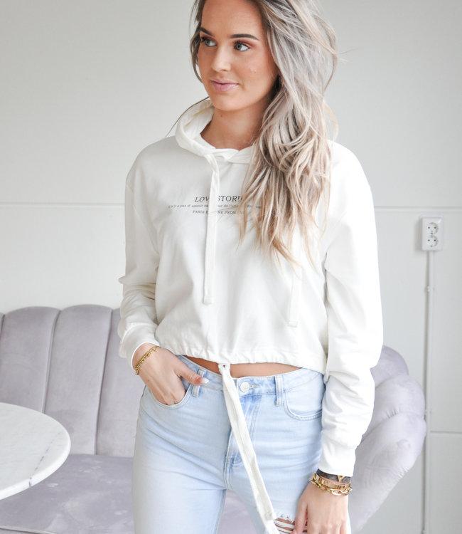 TESS V Love stories sweater white