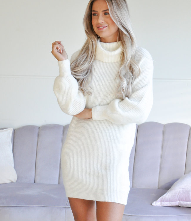 TESS V Isabeau col sweater white