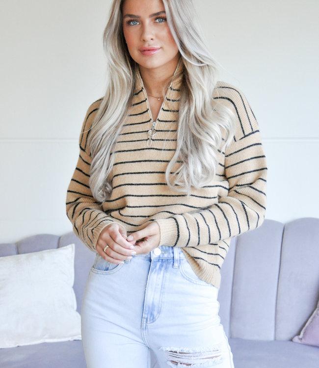 TESS V Jade sweater brown