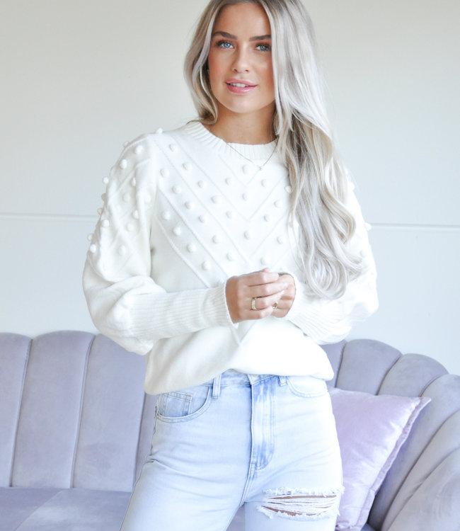 TESS V Maartje sweater white