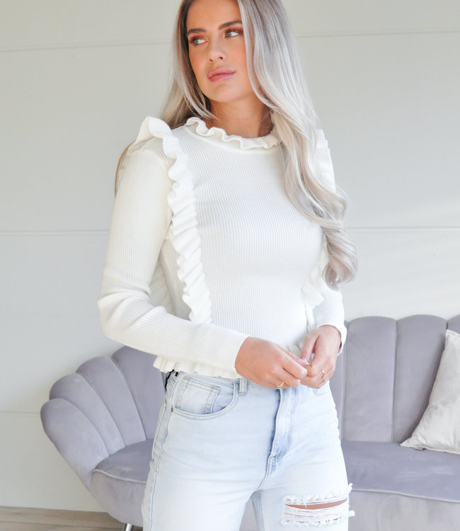 TESS V Annelijn sweater white