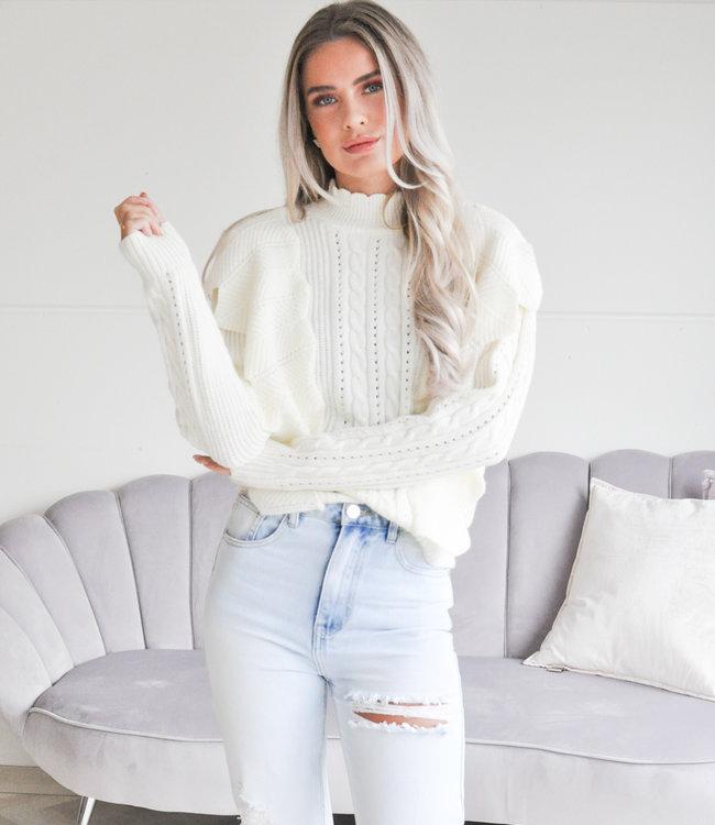 TESS V Vita sweater white