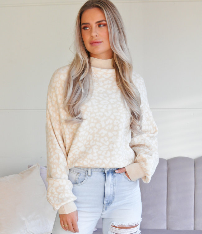 TESS V Quinty sweater beige