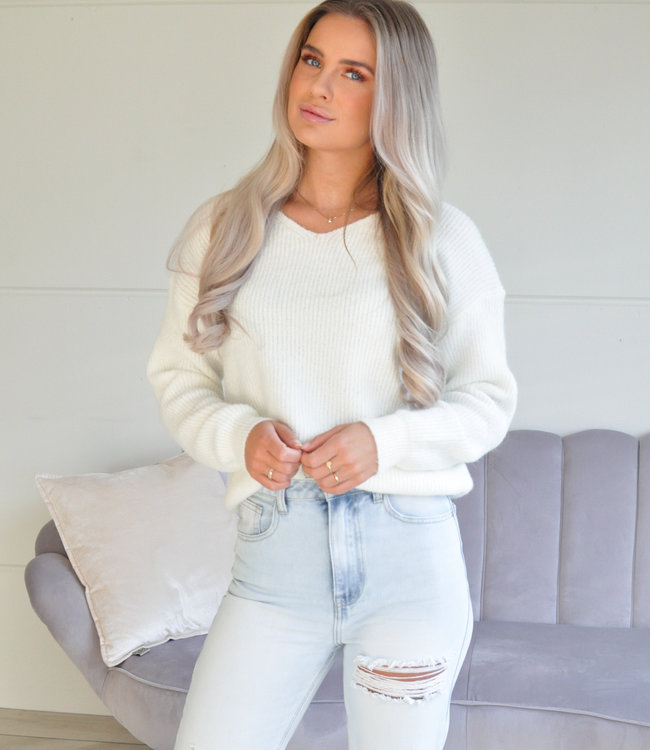 TESS V Lise sweater off white