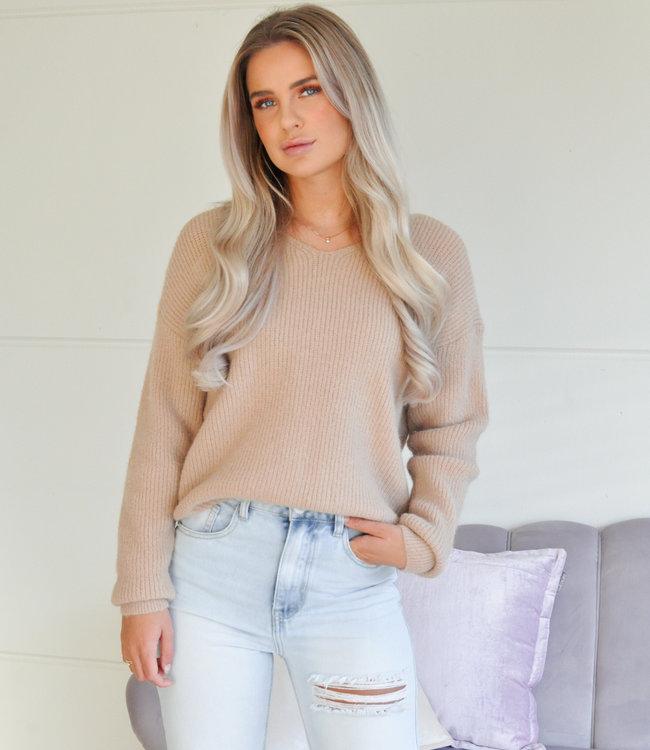 TESS V Lise sweater camel