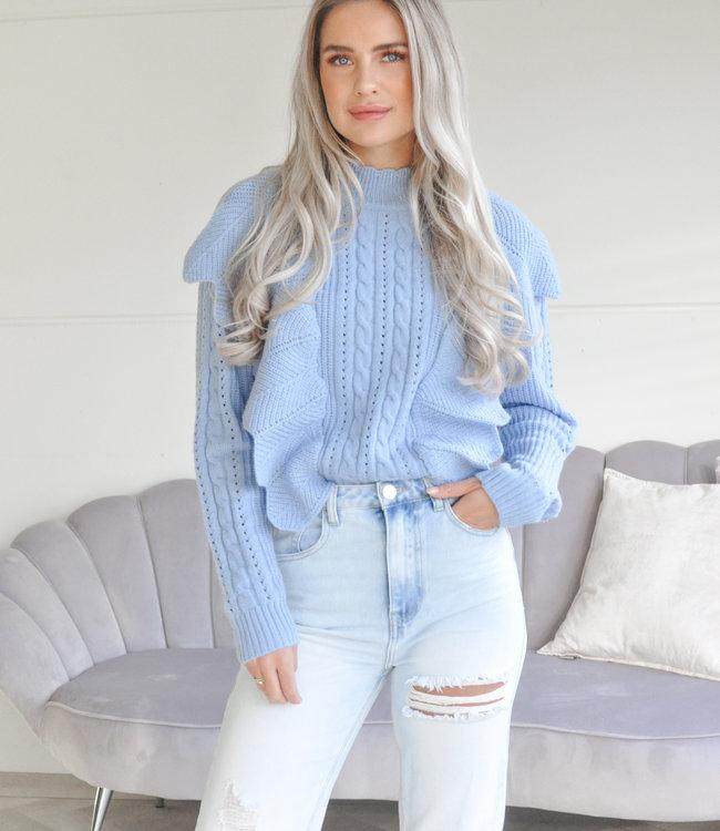 TESS V Vita sweater blue