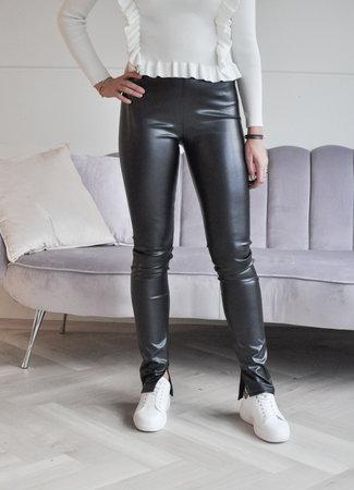 TESS V Wendy leather pants black