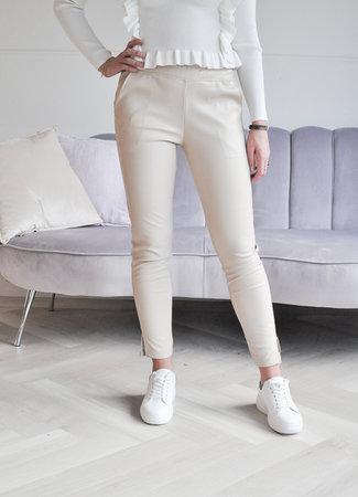 TESS V Naomi leather pants beige