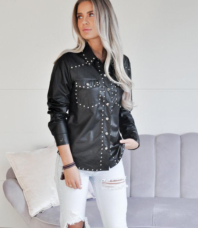 TESS V Sanna leather blouse
