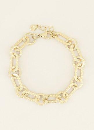 My Jewellery Armband kleine ovale schakels goud