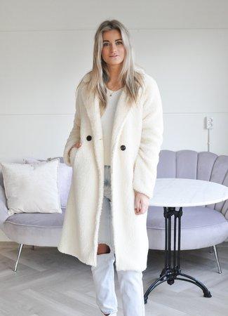 TESS V Alicia coat white