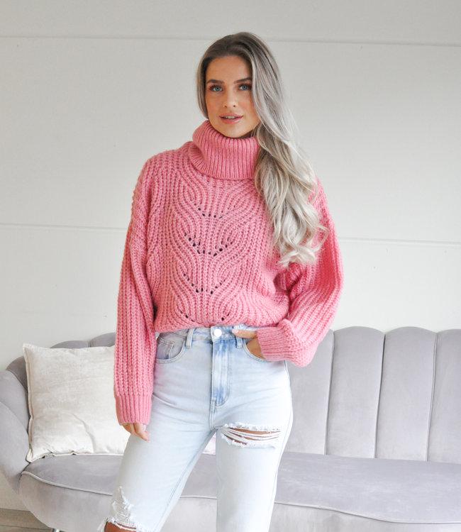 TESS V Avely sweater pink