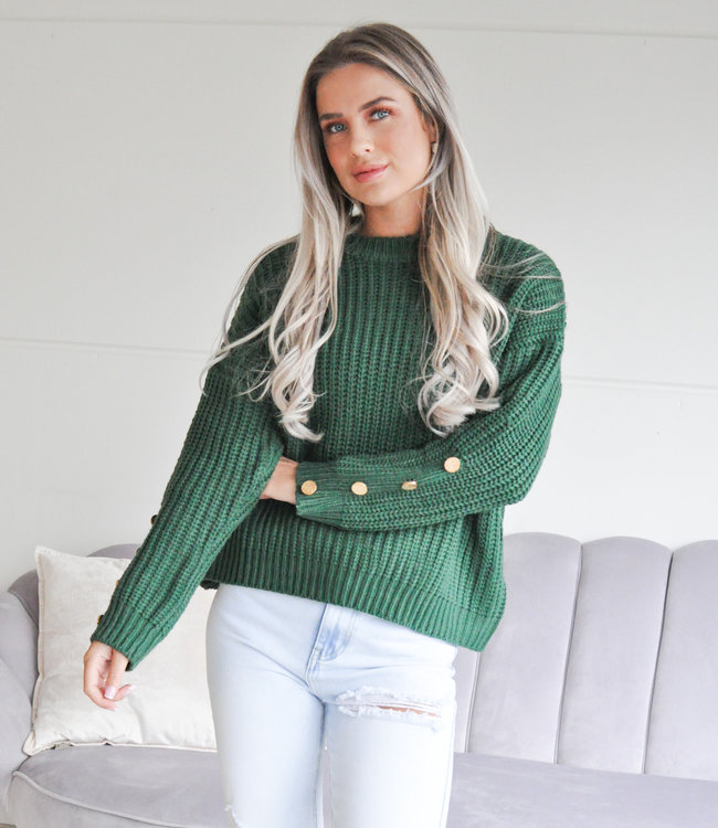 TESS V Josie sweater green