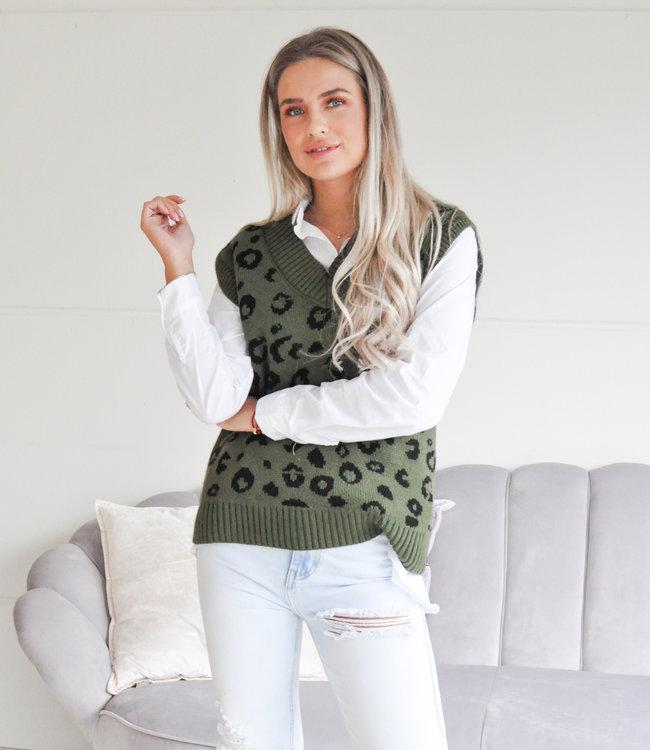 TESS V Leopard spencer green