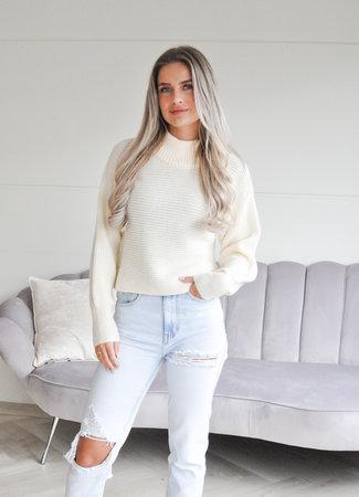 TESS V Tari sweater creme