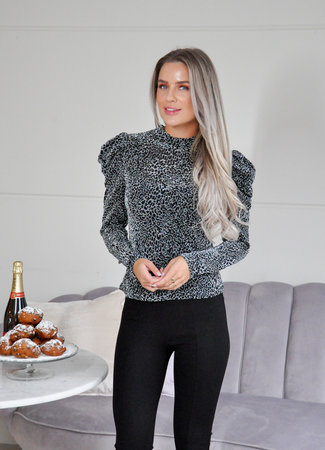 Floraine top silver