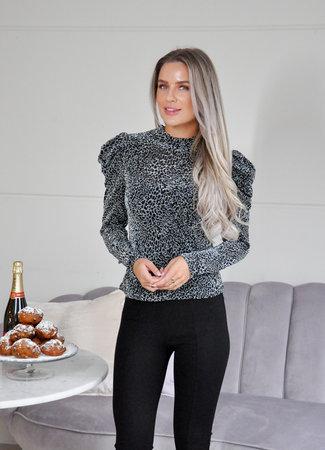 TESS V Floraine top silver
