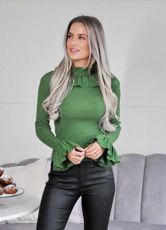 TESS V Jasmina top green