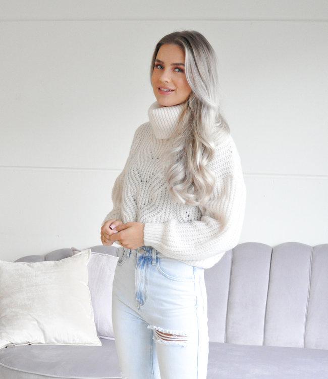 TESS V Avely sweater creme
