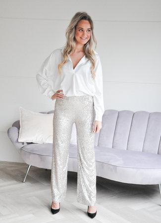 TESS V Lavy glamour pants beige