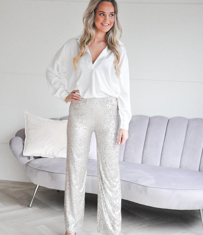 Lavy glamour pants beige