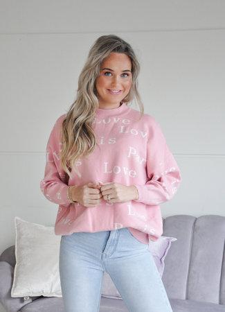 TESS V Love paris sweater pink