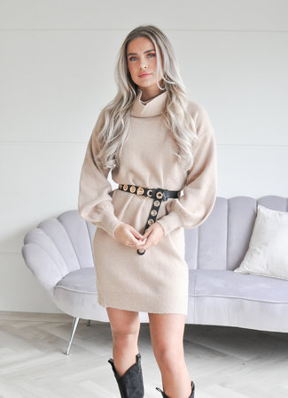 TESS V Loes col dress camel