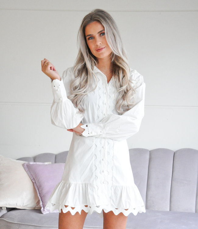 Veronique dress white