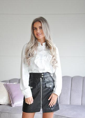 TESS V Olia leather skirt