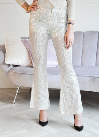 Chelsey glitter pants beige