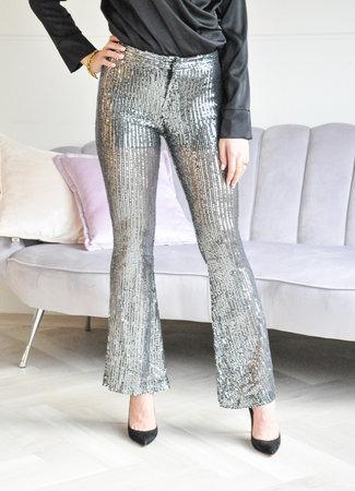 Chelsey glitter pants silver